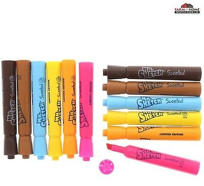 12 Scented Washable Color Markers Art New