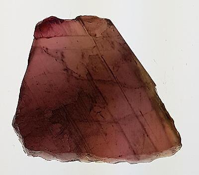 Echter flacher Roh - Turmalin / rosa ( ca. 37 Carat ) 31,2 x 27,4 x 4,6 mm