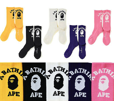 A BATHING APE Goods Men's COLLEGE SOCKS 5colors From Japan new