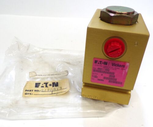 EATON VICKERS HYDRAULIC VALVE 02170817, ADV1-4092, ND 05-39