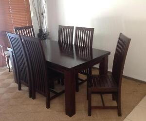 Dining Table with six chairs Middle Park Brisbane South West Preview