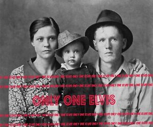 ELVIS PRESLEY at Two Years old in hat 1937 4x5 Family Photo Vernon & Gladys
