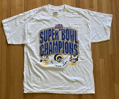 New St. Louis Rams Super Bowl XXXIV T-Shirt with Kurt Warner - Men's Large