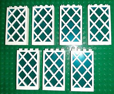 USED 7 Building/Construction Block Windows White Frame Blue window Unbranded for sale  Shipping to South Africa