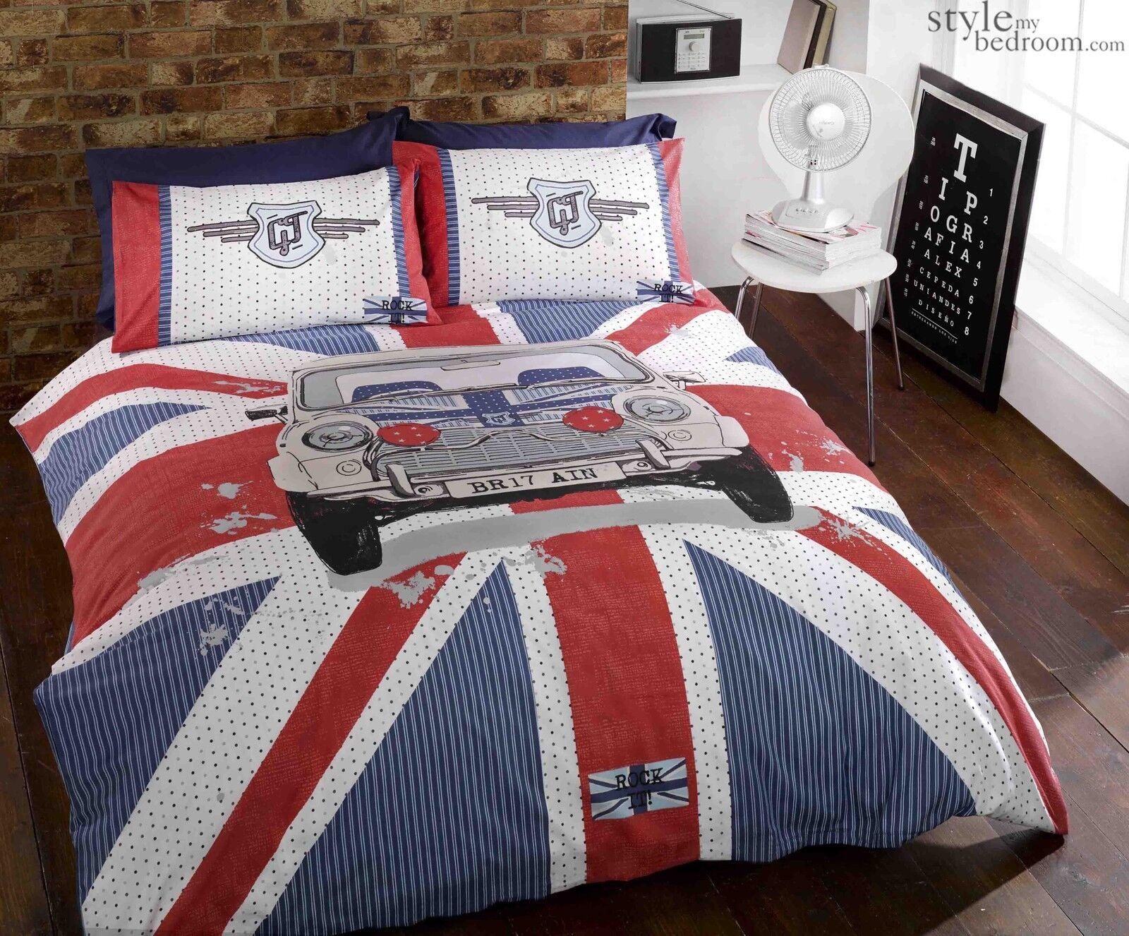 Union Jack Amp Cassic Mini Cooper Gt Duvet Quilt Cover