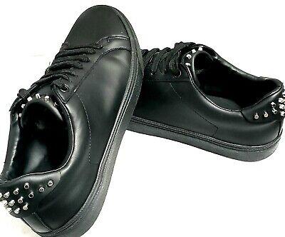 NWOB ZARA Men's Sneakers With Studs Black Shoe Size Mens 8 Womens 10 EU 41