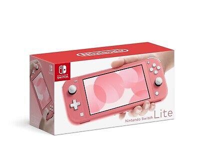 Nintendo Switch Lite Console, Coral - Brand New