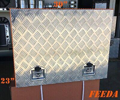 35 23 23 Aluminum Generator Box Truck Tool Trailer Tread Storage Bed