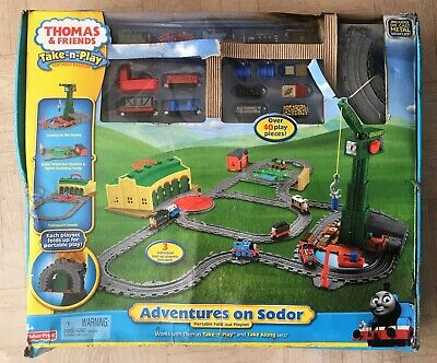NEW Fisher-Price Thomas & Friends Take-n-Play Adventures on Sodor Train Set