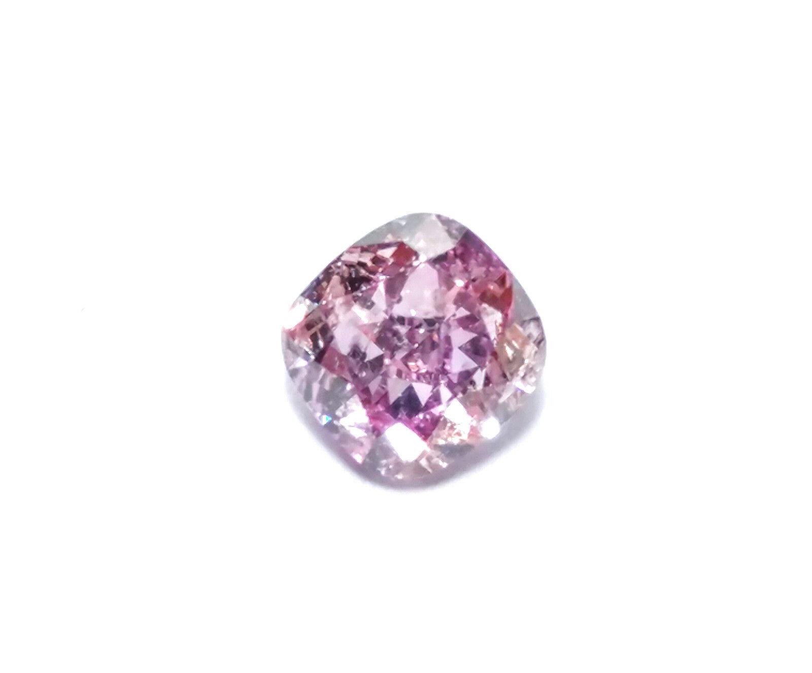 0.30ct Purple Diamond - Natural Loose Fancy Intense Pink Purple GIA Cushion SI1