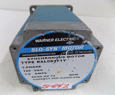 Warner Slo-syn 1p 120v 1.0a Synchronous Motor Ksl093t1y