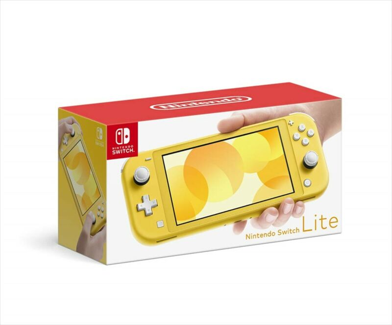 Nintendo+Switch+Lite+Yellow+Portable+Game+Console+from+Japan+NEW