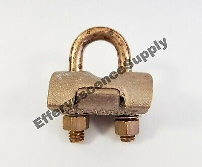 Ground Earth Rod Clamp-copper Alloy. Burndy Usa Gp6429 38-34 Rod To 2 Cables