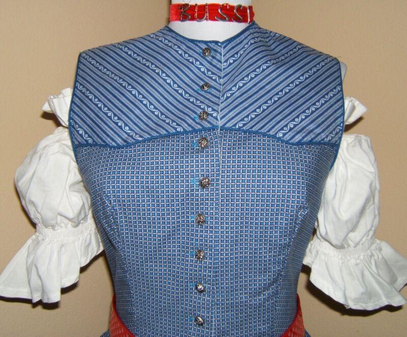Original Alphorn Trachtenmode Dirndl Old Style Waitress Dress Oktoberfest EU 38