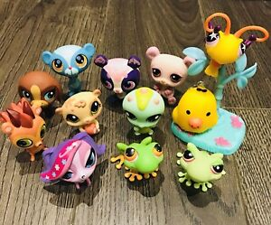 Little Pet Shop Lot of 11 pets Hasbro with accessories!