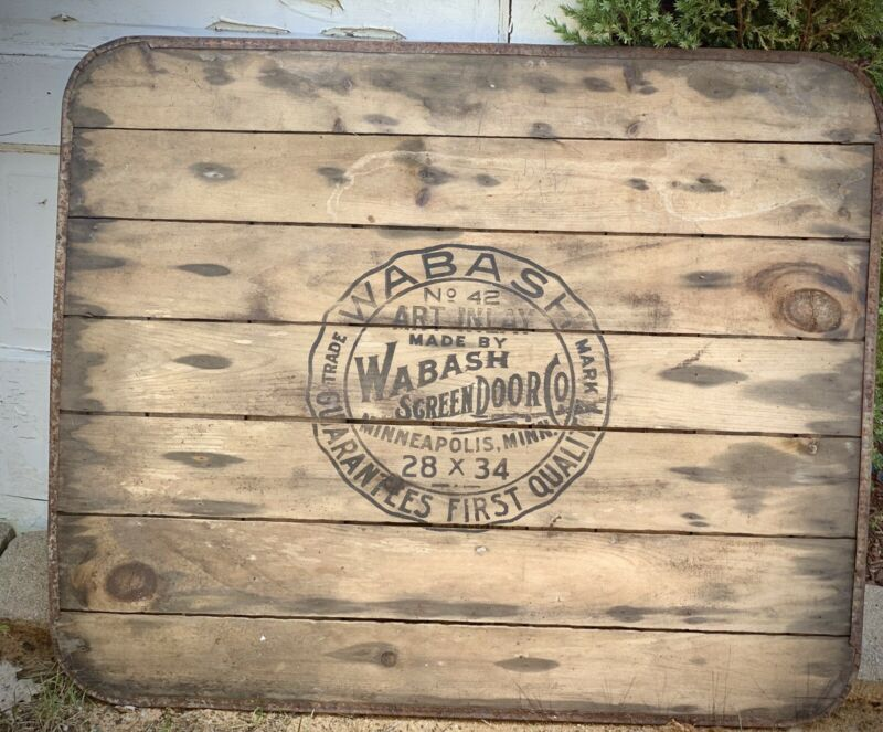 "Vintage Wabash Screen Door Co No 42 Mahogany Stove Board 28"" X 34"" Minnesota"