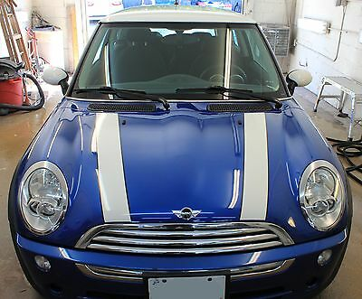 Mini Cooper Standard Bonnet Hood Stripe Graphic Decals  Fits All Yrs   Models