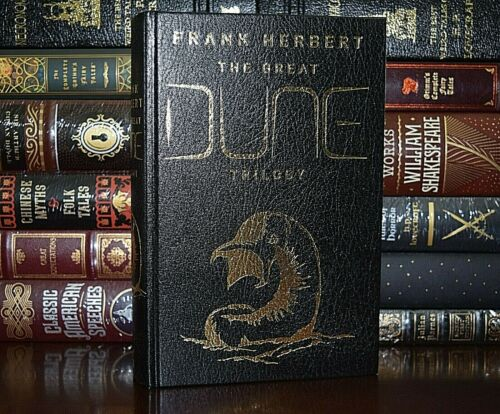 NEW Great Dune Trilogy by Frank Herbert Leather Bound Collectible Hardcover
