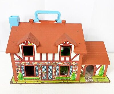 Fisher Price Vintage Little People Play Family House Tudor 952