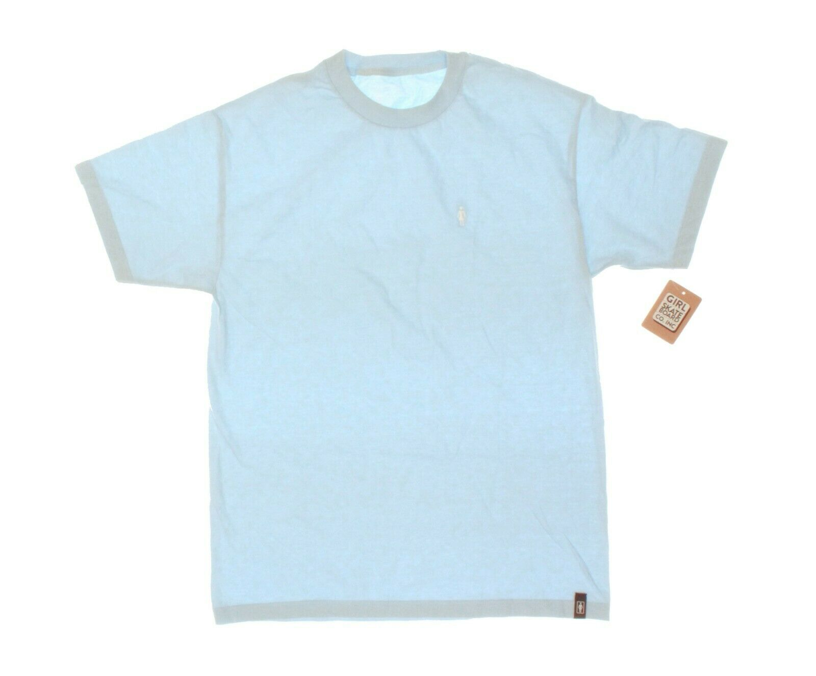 NWT - GIRL SKATEBOARD CO. INC Men's EMBROIDERED Blue S/S CRE