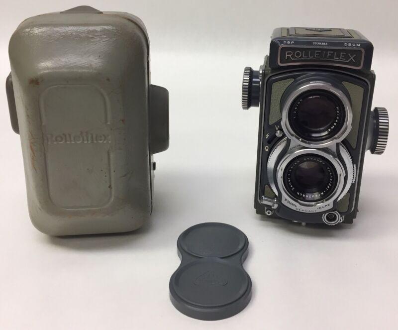 Franke & Heidecke Rolleiflex 4x4 Gray DBGM DBP Heidosmat Xenar Twin Lens Camera