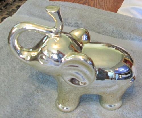 Silver Elephant Figurine