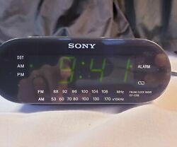 SONY Dream Machine FM/AM Clock Radio Alarm Model ICF-C218 Gray ~ EUC!!!