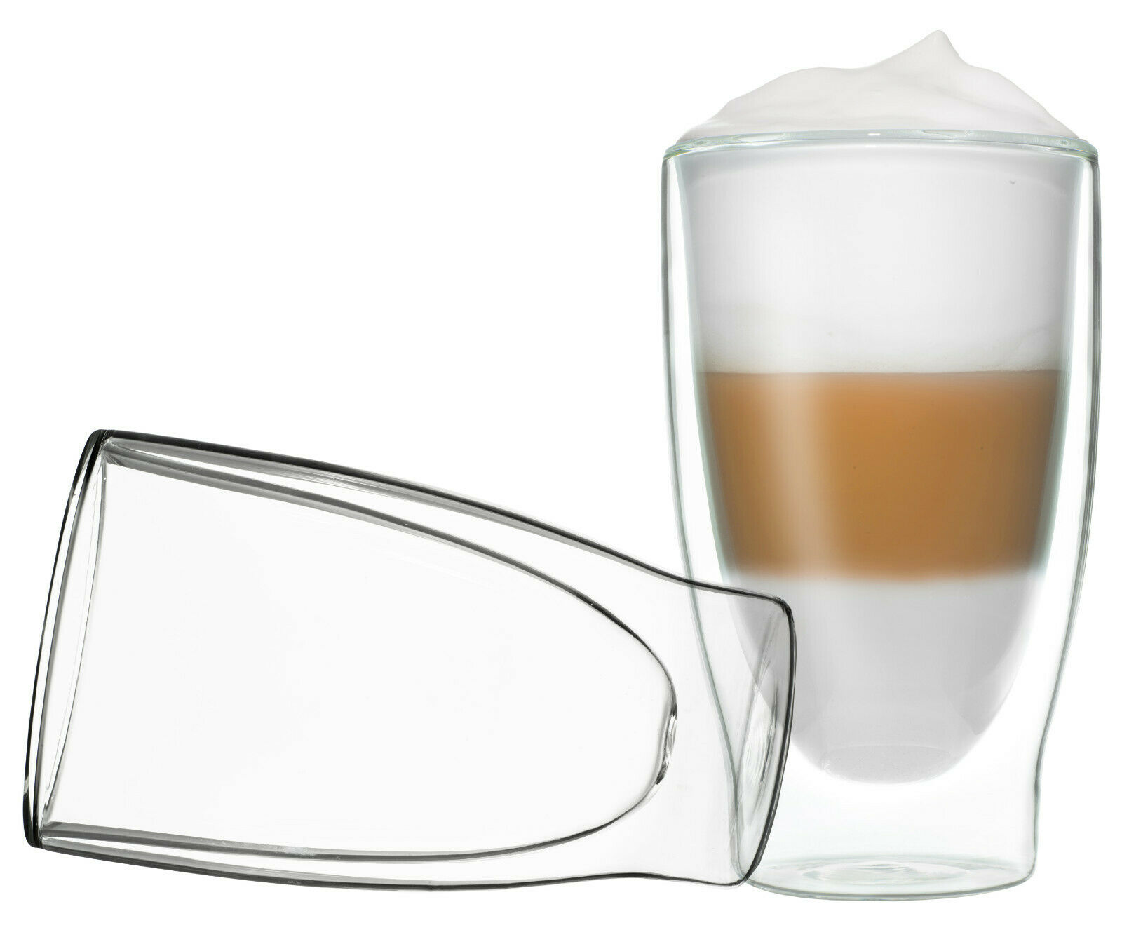 2x 400ML DUOS THERMOGLÄSER DOPPELWANDIG LATTE MACCHIATO COCKTAIL EIS TEE