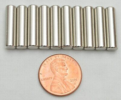 10pcs Strong Round Long Cylinder N35 Magnets 20mm X 5mm Rare Earth Neodymium