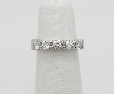 Zales Platinum 3/4CT 5 Stone Diamond Anniversary Wedding Band Ring , used for sale  Shipping to Canada