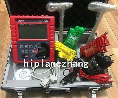 234 Pole Earth Resistance Voltage Soil Resistivity Tester Meter Rs232 Ut523a