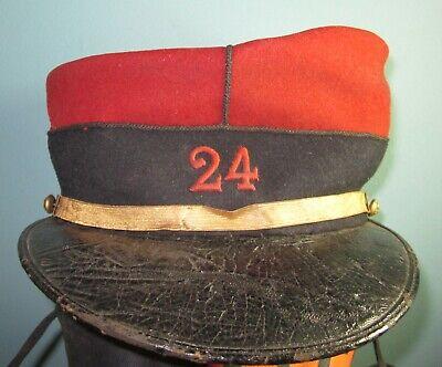 Size55 rare French kepi 24 RI ca1910 Military Hat helmet hut shako WW1 infantry
