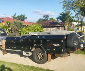Camper trailer off road. Southern Cross