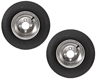 2-Pack Trailer Tire On Rim 4.80-8 480-8 8 4 Lug 6 Ply LRC Galvanized Wheel