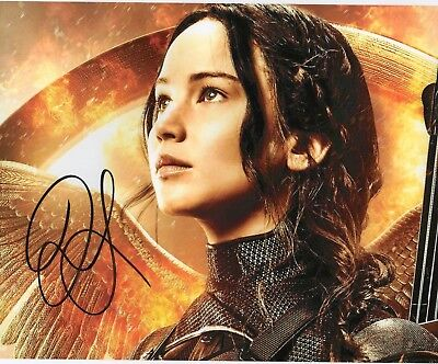 Autographed Jennifer Lawrence 8 X 10 Photo Signed In Black Sharpie