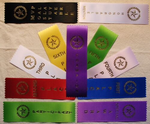 LOT OF 200 1st, 2nd, 3rd, 4th, Place Award Ribbons Your choice