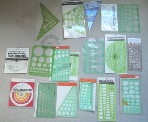 Lot of 20 Drafting - Drawing - Architectural - Mechanical Templates (4)