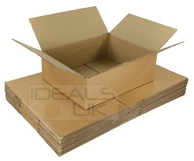 10 x NEW 450x350x160mm ROYAL MAIL MAX SIZE SMALL PARCEL CARDBOARD BOXES - DPD 24