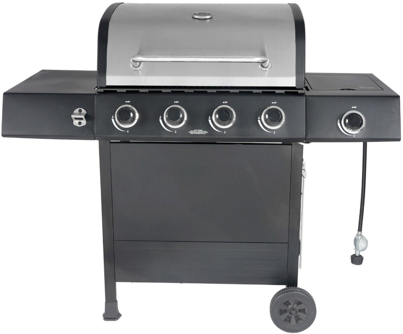RevoAce GBC1748WS 4 Burner LP Gas Grill with Side Burner Gre