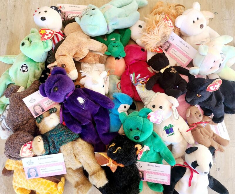 Mixed Ty Beanie Baby Lot of 5 Random Selected. All w/tag Different Generations