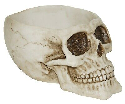 LARGE Halloween Scary Skull Candy Bowl Decoration 8 inches made of Resin