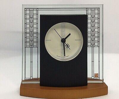 Bulova Glasner House B7750 Frank Lloyd Wright Clock IN BOX