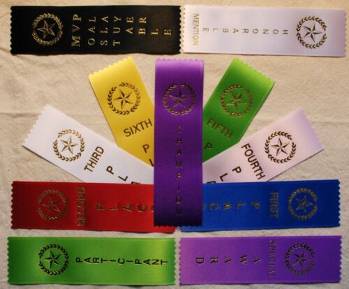 LOT OF 400 Award Place Event Prize Ribbons Your choice