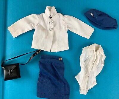 Vintage part Barbie and Sindy doll air stewardess American Airlines and B.O.A.C