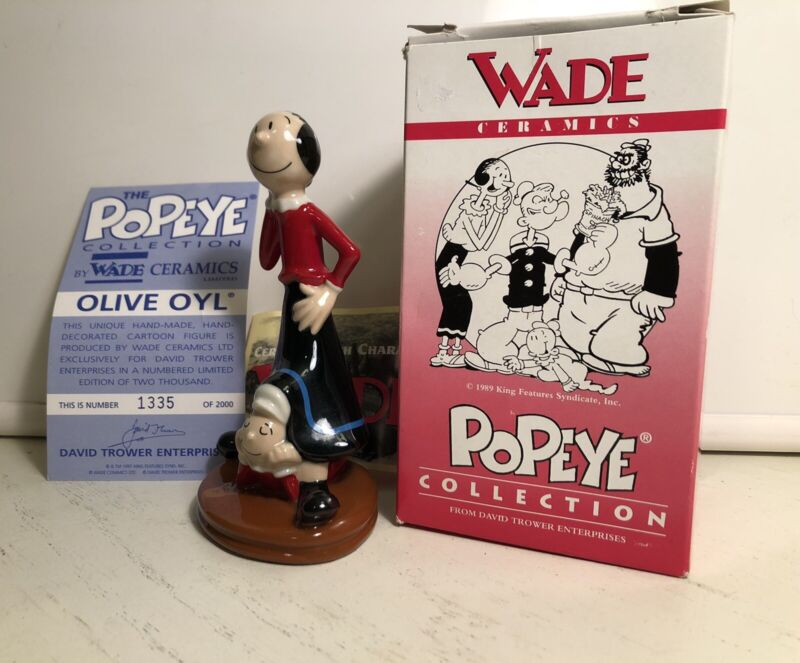 1998 Olive Oyl and Sweet Pea Wade Ceramics Figurine Limited Edition-1335 of 2000