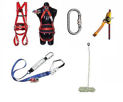Premium Kletter Set Auffanggurt inkl Seil 20m Seilbremse Falldämpfer Fallschutz