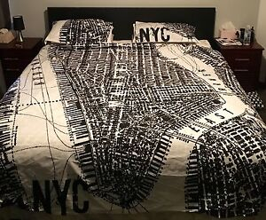 Black and White KING SIZE NYC Doona Cover Coogee Cockburn Area Preview