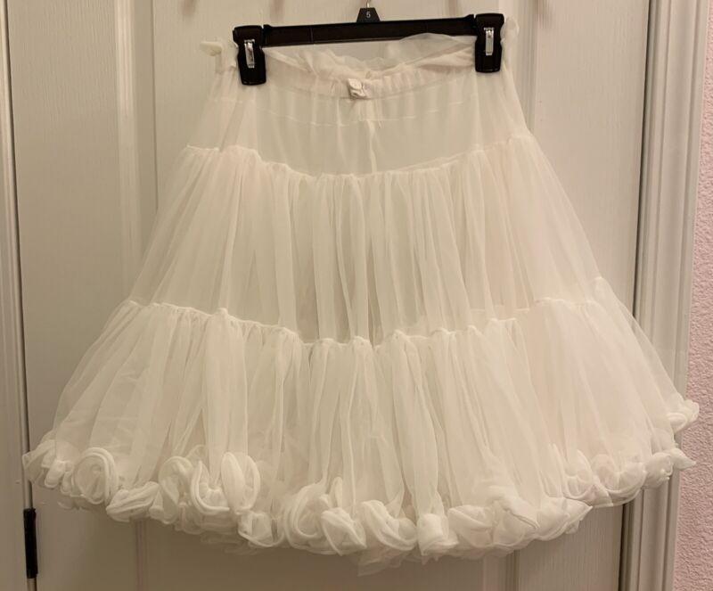 Square Dance Petticoat White Partners Please Malco Modes #582 Full Soft Size Sml