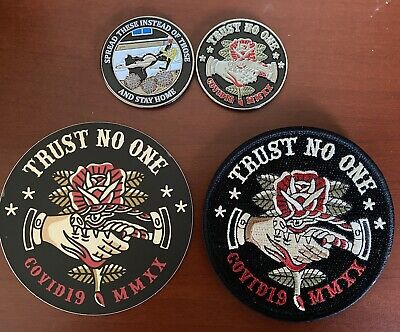2020 Pandemic Trust No One Cov!d 19 Challenge Coin Set