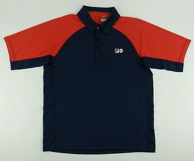 135ce8cfb9 Authentic Fila Tennis Polo Shirt Size Mens Small S